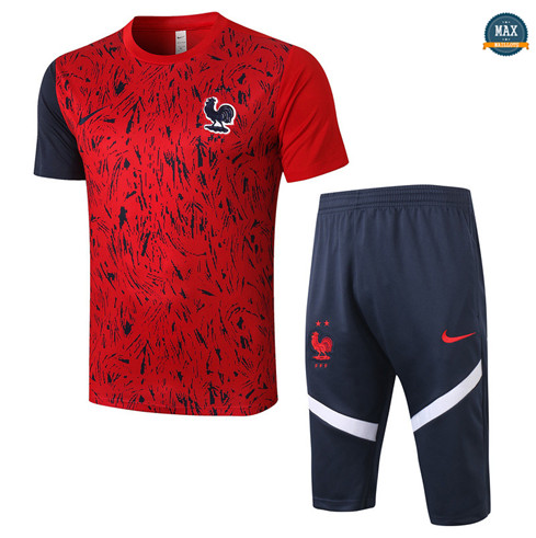 Max Maillots France + Pantalon 3/4 Training 2020/21 Rouge