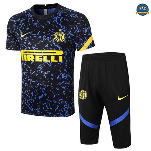 Max Maillots Inter Milan + Pantalon 3/4 Training 2020/21 Bleu