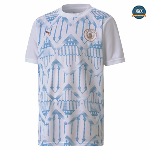 Max Maillot Maillot de Stade Manchester City 2020 Blanc fiable