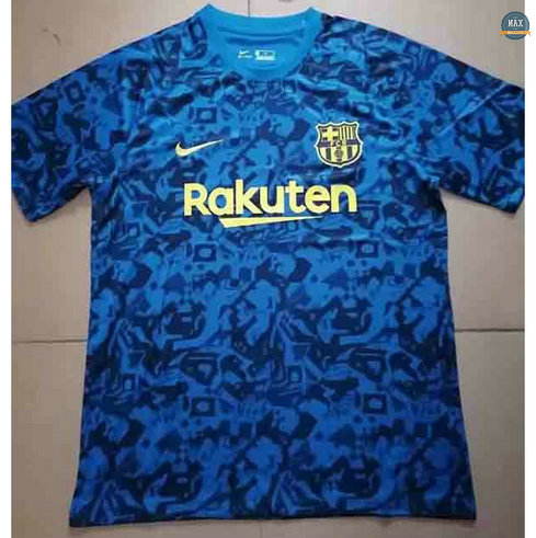 Max Maillots Barcelone Bleu Pre-Match training 2021/22