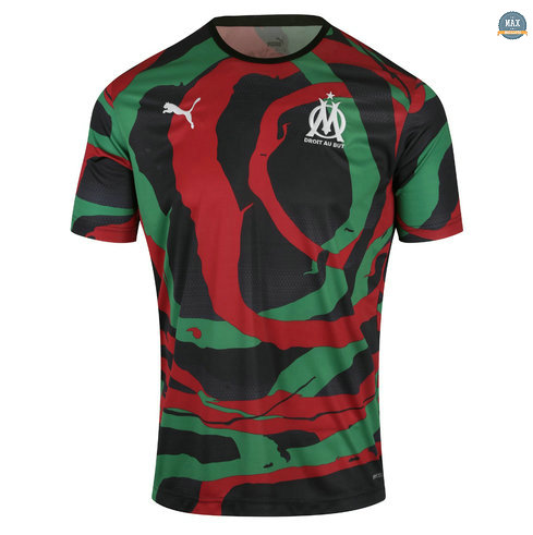 Max Maillots Marseille OM Africa 2021/22 Collectors Noir/Vert/Rouge 2021/22