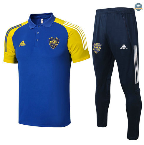 Max Maillots POLO Boca Juniors + Pantalon 2021/22 Training Bleu