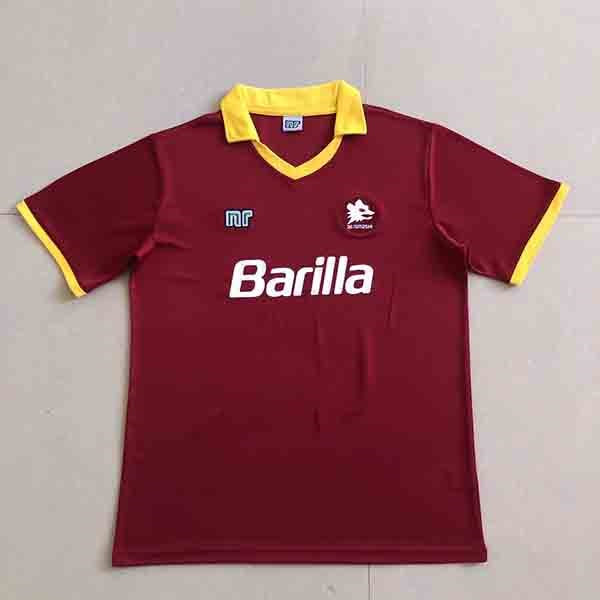 Max Maillots Rétro 1989-90 AS Roma Domicile Shop Online