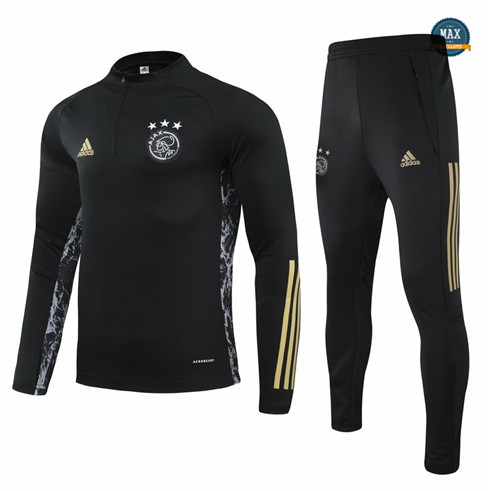 Max Veste Survetement Champions League Ajax Noir 2021/22 pas cher