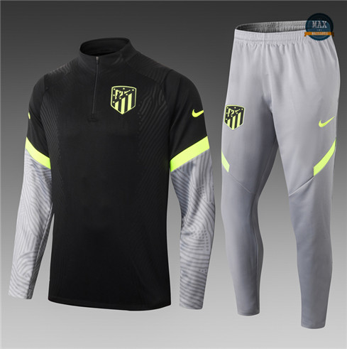 Max Survetement Enfant Atletico Madrid Noir/Gris 2021/22 Thailande