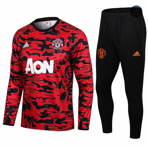 Max Veste Survetement Manchester United Rouge/Noir Col Rond 2021/22 Shop Online