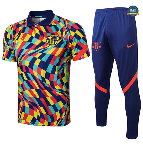 Max Maillot Polo Barcelone + Pantalon 2021/22 Training Couleur