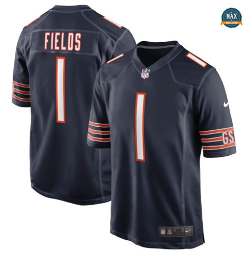 Max Maillots Justin Fields, Chicago Bears - Navy