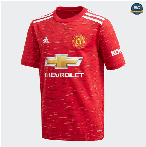 Max Maillots Manchester United Domicile 2020/21 pas cher