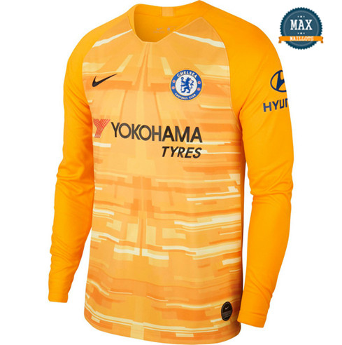 Maillot Chelsea Domicile 2019/20 Gardien de but Manche Longue Orange