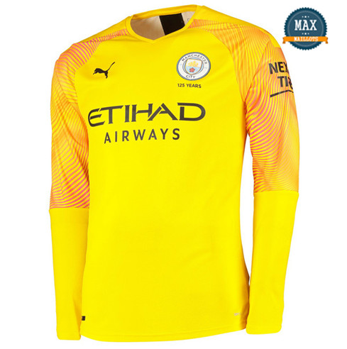 Maillot Manchester City Third 2019/20 Gardien de but Manche Longue