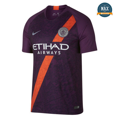 Maillot Manchester City Third 2018/19 Violet/Orange