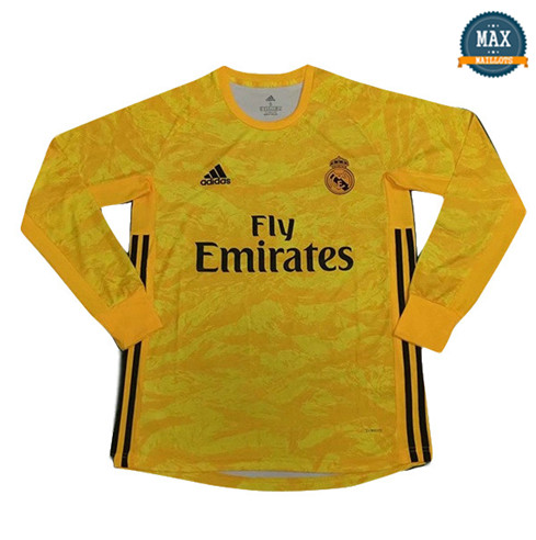 Maillot Real Madrid Gardien de but Manche Longue Jaune 2019/20