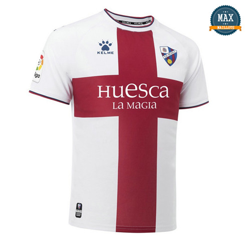 Maillot SD Huesca Exterieur 2018/19 Blanc/Rouge