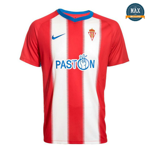 Maillot Sporting Gijon Domicile 2018/19 Rouge/Blanc