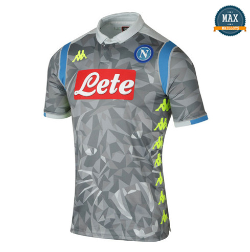 Maillot Naples Third 2018/19 Gris/Blanc