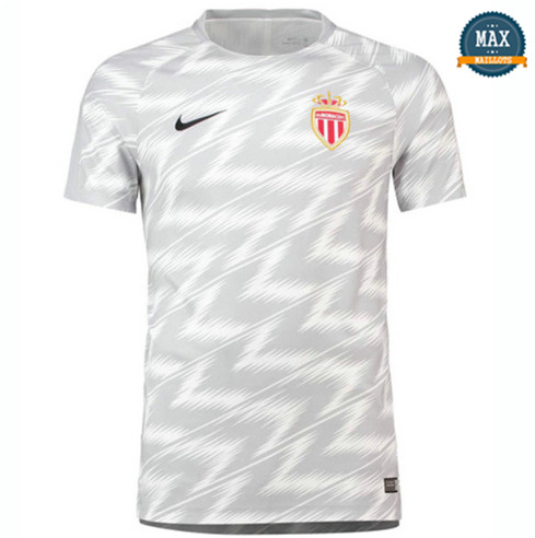 Maillot AS Monaco Training Pré-Match Blanc 2018/19