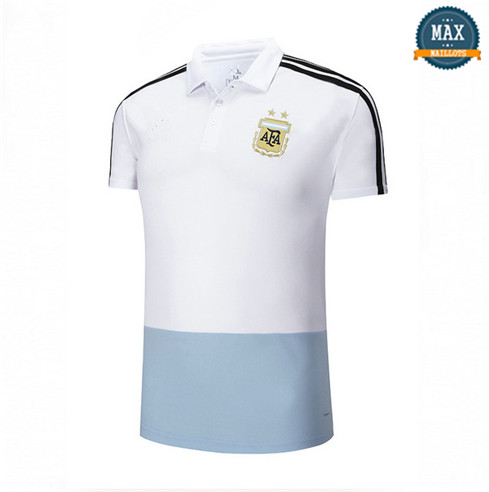 Maillot Polos Argentine Blanc Bleu 2018/19
