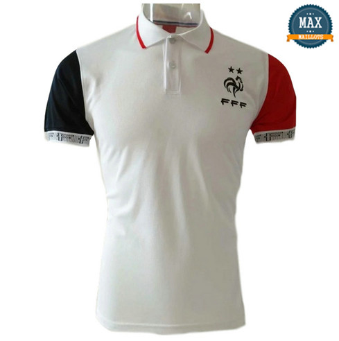 Maillot France polo Blanc 2018/19