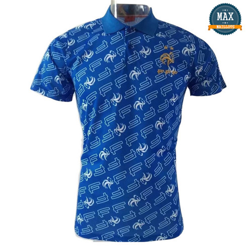 Maillot France polo Marquage Bleu 2018/19