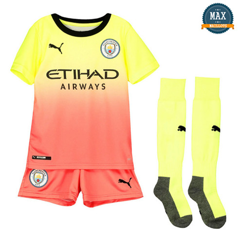 Maillot Manchester City Enfant Third 2019/20 Jaune/Rose