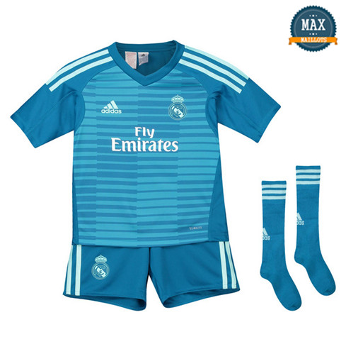 Maillot Real Madrid Exterieur 2018/19 Gardien de but Enfant Bleu