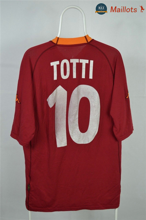 Maillot Retro 2000-01 AS Roma Domicile (10 Totti)