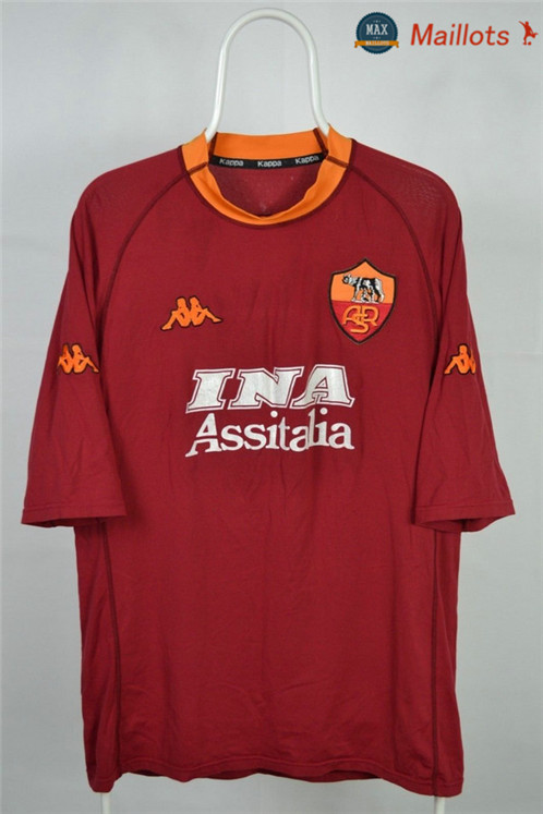 Maillot Retro 2000-01 AS Roma Domicile