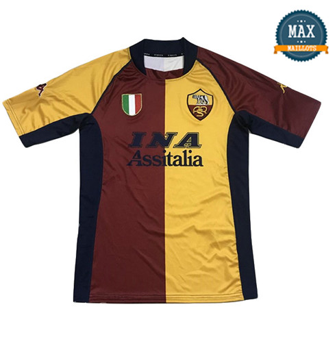 Maillot Retro 2001-02# AS Roma Domicile