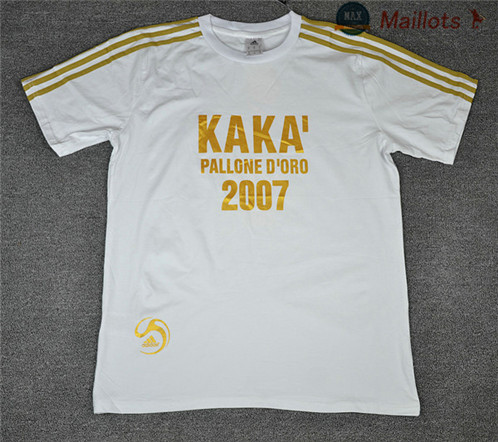 Maillot Retro 2007 KAKA Oren ball Commemorative Edition Blanc