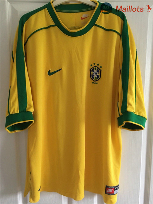 Maillot Retro 1998 Coupe du Monde final Bresil Domicile