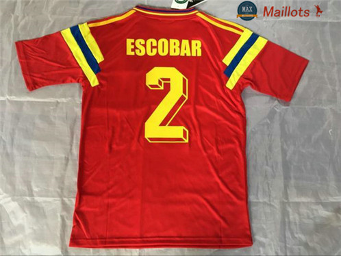 Maillot Retro 1990 Colombie Rouge (2)