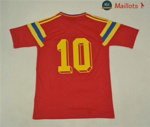 Maillot Retro 1990 Colombie Rouge (10)