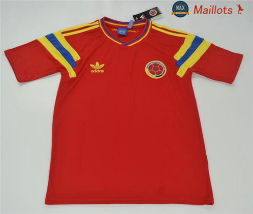 Maillot Retro 1990 Colombie Rouge