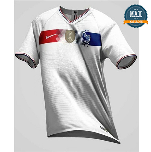 Maillot Retro France classic Blanc