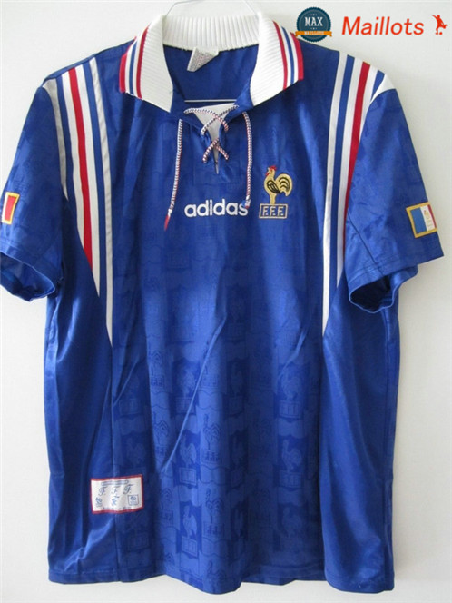 Maillot Retro 1996 Coupe du Europe France Domicile