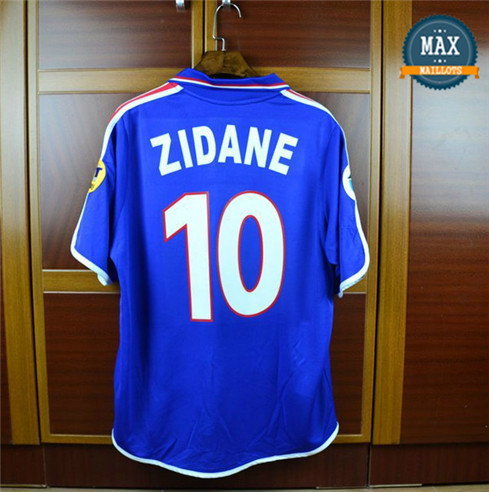 Maillot Retro 2000 Coupe du Europe france Domicile (10 Zidane)