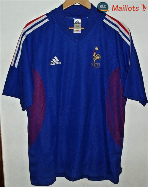 Maillot Retro 2002 Coupe du Monde France Domicile
