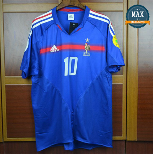 Maillot Retro 2004 Coupe du Europe France Domicile (10 Zidane)