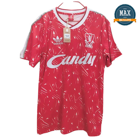 Maillot Retro 1989#Liverpool Rouge