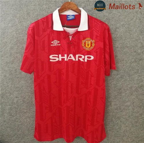 Maillot Retro 1994 Manchester United Domicile Rouge