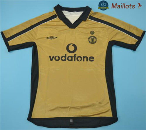 Maillot Retro 2001-02 Manchester united Third Or