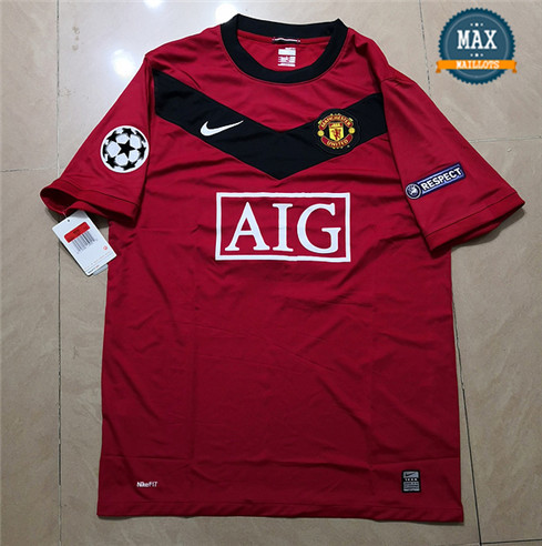Maillot Retro 2009 UCL version Manchester United Domicile