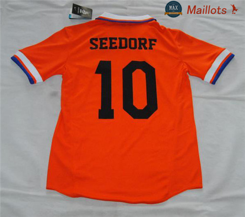 Maillot Retro 1997-98 Pays Bas Domicile (10 Seedorf)