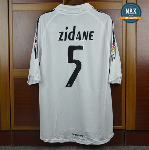 Maillot Retro 2005-06 Real Madrid Domicile (5 Zidane)