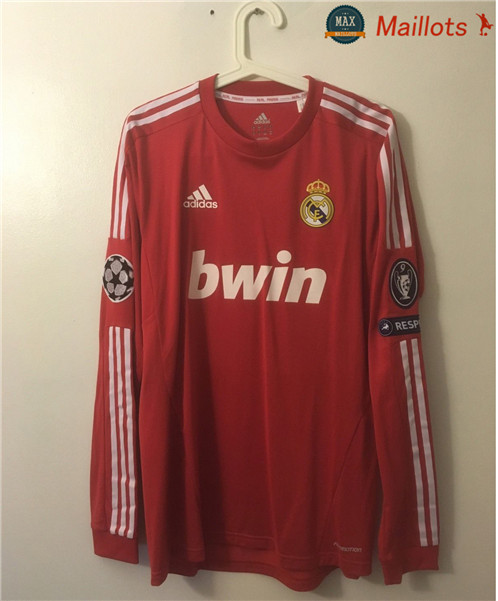 Maillot Retro 2011-12 Real Madrid Manche Longue Third Rouge