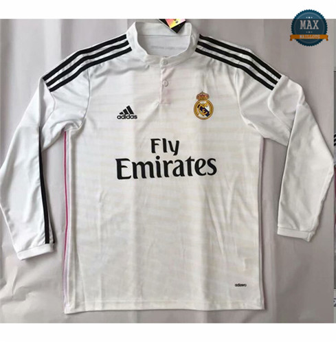 Maillot Retro 2014#Real Madrid champions league Manche Longue