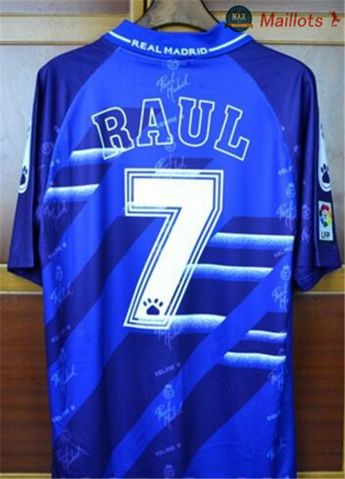 Maillot Retro 1994-96 Real Madrid Exterieur purple (7 Raul)