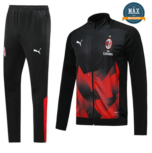 Veste Survetement AC Milan 2019/20 Noir/Rouge
