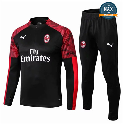 Survetement AC Milan 2019/20 Noir/Rouge